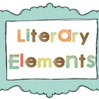 Literary Elements Poster Set - Plot, Setting, Characters,