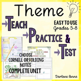 Literary Elements: Theme Interactive Notebook or Cornell N