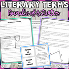 Literary Terms/Figurative Language/Story Elements Unit Plan