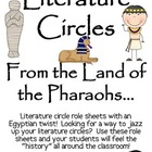 Literature Circles Packet...From the Land of the Pharaohs!