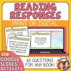 Literature Response QUESTION Cards for Any Book: 64 Cards!