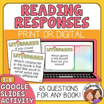 Literature Response QUESTION Cards for Any Book: Close Reading, Lit Groups, etc.