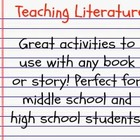 Literature Study Bundle - great activities for teaching ANY novel