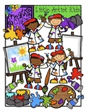 Little Artist Kids {Creative Clips Digital Clipart}