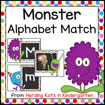 Little Monster Alphabet Match-Up