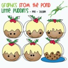 Little Puddin's - Christmas Pudding Clipart Graphics From