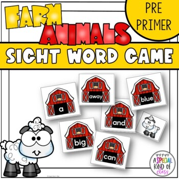Little Sheep Sight Word Game Pre-Primer Dolch Word Llist