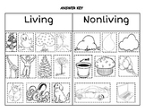 Living vs. Nonliving Sort