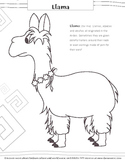 Llama Coloring Page (From Animals Of The Andes)