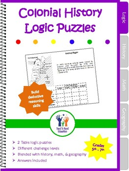 Logic Puzzles Colonial History Theme - Free