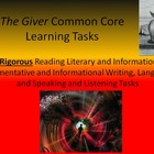 "Lois Lowry's ""The Giver"" Common Core Learning Tasks - 27 R"