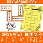 Long A Dominoes (a, a_e, ai, ay, eigh) Game with Recording Sheet