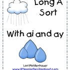 Long A Word Sort for -ay and -ai Center
