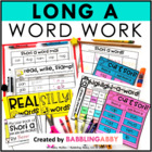 Long A Word Work Activities