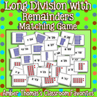 Long Division with Remainders Matching Game
