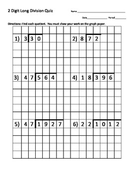 Common Worksheets » Double Digit Long Division - Preschool and ...