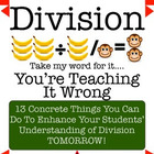 Long Division and Division: Take My Word For It, You're Te