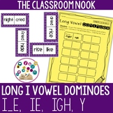 Long I Dominoes Game with Recording Sheet (ie, i_e, y, igh)