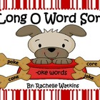 Long /O/ CVCe Word Sort Center -ote -ose -oke -one -ore