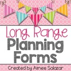 Long Range Planning Forms {PDF and Editable Versions}
