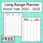 2013 to 2014 School Year Planner