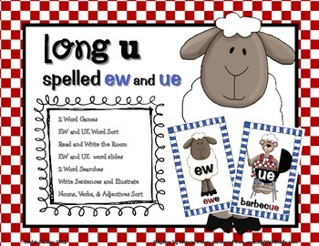 Long U spelled EW and UE Word Work Pack