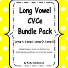 Long Vowel CVCe Bundle Activities and Worksheets