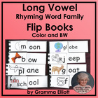 Long Vowel Flip Books- 50 Rhyming Word Families