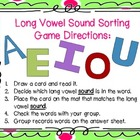 Long Vowel Sound: Sorting Cards