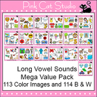 Long Vowel Sounds Clip Art Mega Value Pack - Phonics Clipart Set