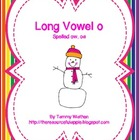 Long Vowel o Snowman Word Sort