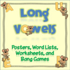 "Long Vowels: Word Lists, Posters, ""Bang"" Games, and More!"