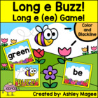 Long e/ee Buzz! & Activity Sheets (Freebie!) (Works with H