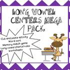 Long vowel center activities with games and sort:  Magic e