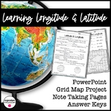 Longitude & Latitude {INTRO} Powerpoint/Worksheet Activity