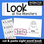 "Interactive Sight Word Reader ""Look at the Monsters"""