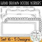 Loop-de-do Rectangular Doodle Frames- 20 Frames