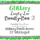 Loopty-Loo Doodly-Doo 2 Glitter Clip Art Frames Commercial Use