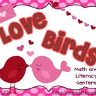 Love Birds Valentine Math and Literacy Centers {12}