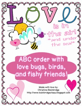 Love Is In the Air- ABC Order Center and Hallway Hunt