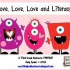 Love, Love, Love and Literacy {Mystery Phrase Freebie}