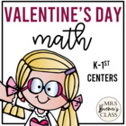 Love Monster Valentine Math Pack