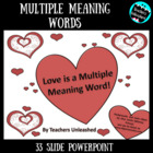 Love is a Multiple Meaning Word PowerPoint Lesson and Test Prep