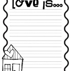 Love is....Writing Prompt Freebie