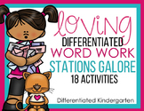 Loving Differentiated Word Work Stations-Aligned Valentines Fun