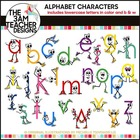 Lower Case Letters with Character Clip Art in B/W & Color!!