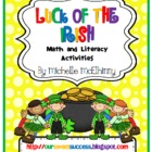 Luck of the Irish {math and literacy}