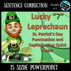Lucky 7 Leprechaun - St. Patrick's Day Sentence Correction