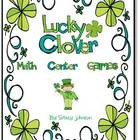 Lucky Clover Math Center Games