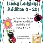 Lucky Ladybug Differentiated Addition Activites